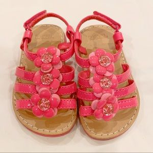 a401932a24787 Gymboree pink floral sandals baby girl size 5